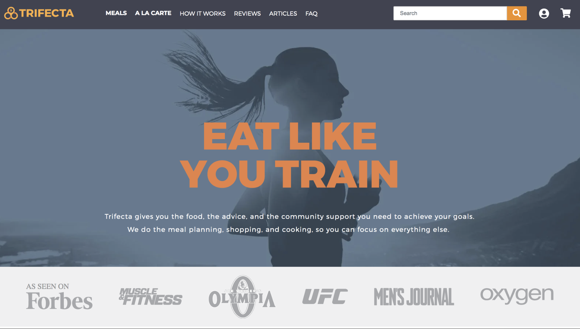 Trifecta Nutrition Homepage